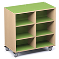 Russwood® Palette™ Cubby Mobile Shelving - 42H x 42W x 24D, Double-Face