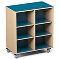 Russwood® Palette™ Cubby Mobile Shelving - 48H x 42W x 24D, Double-Face