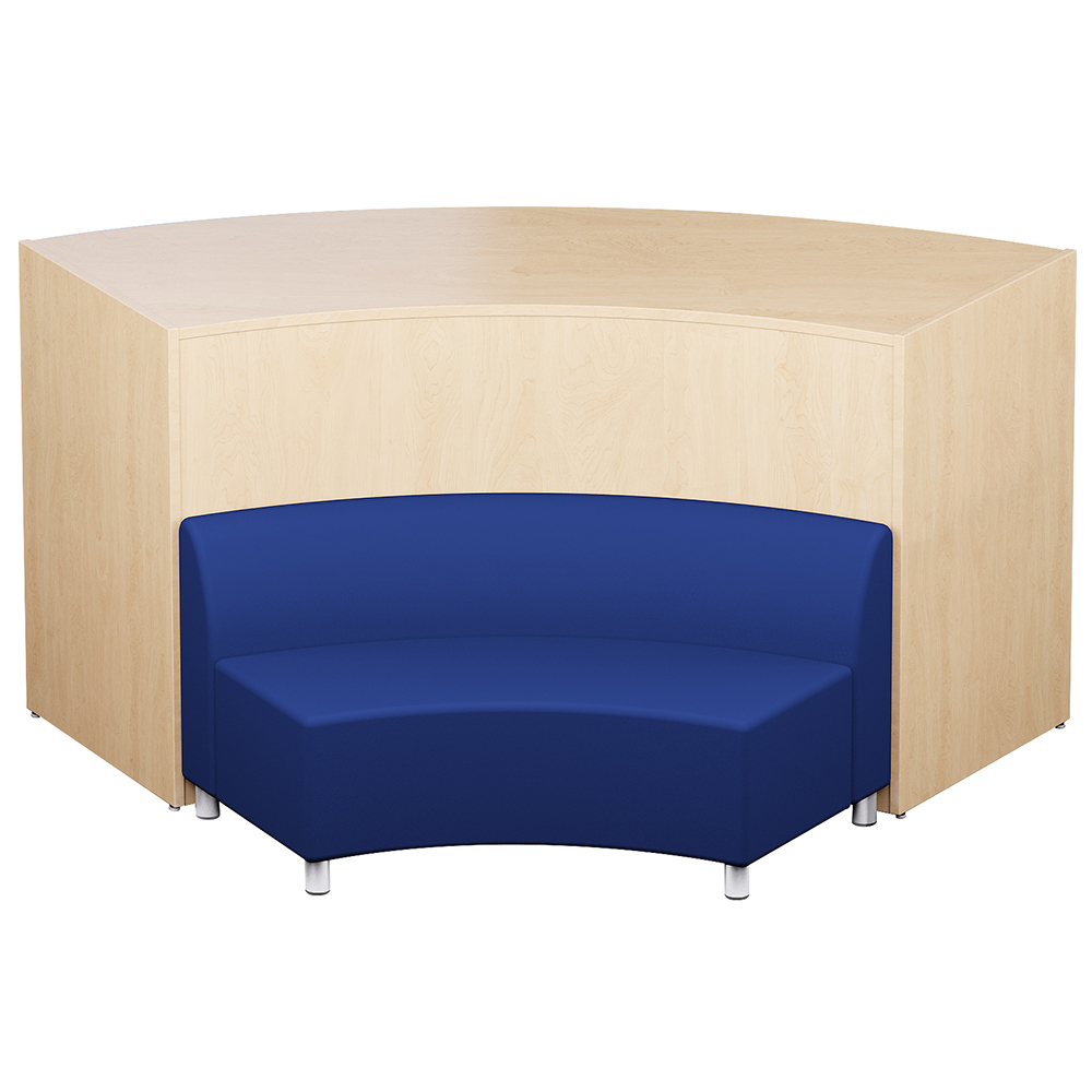 """Russwood® Nook Desk with Backrest Bench - 27""""H x 88""""W x 53""""D, Fabric"""