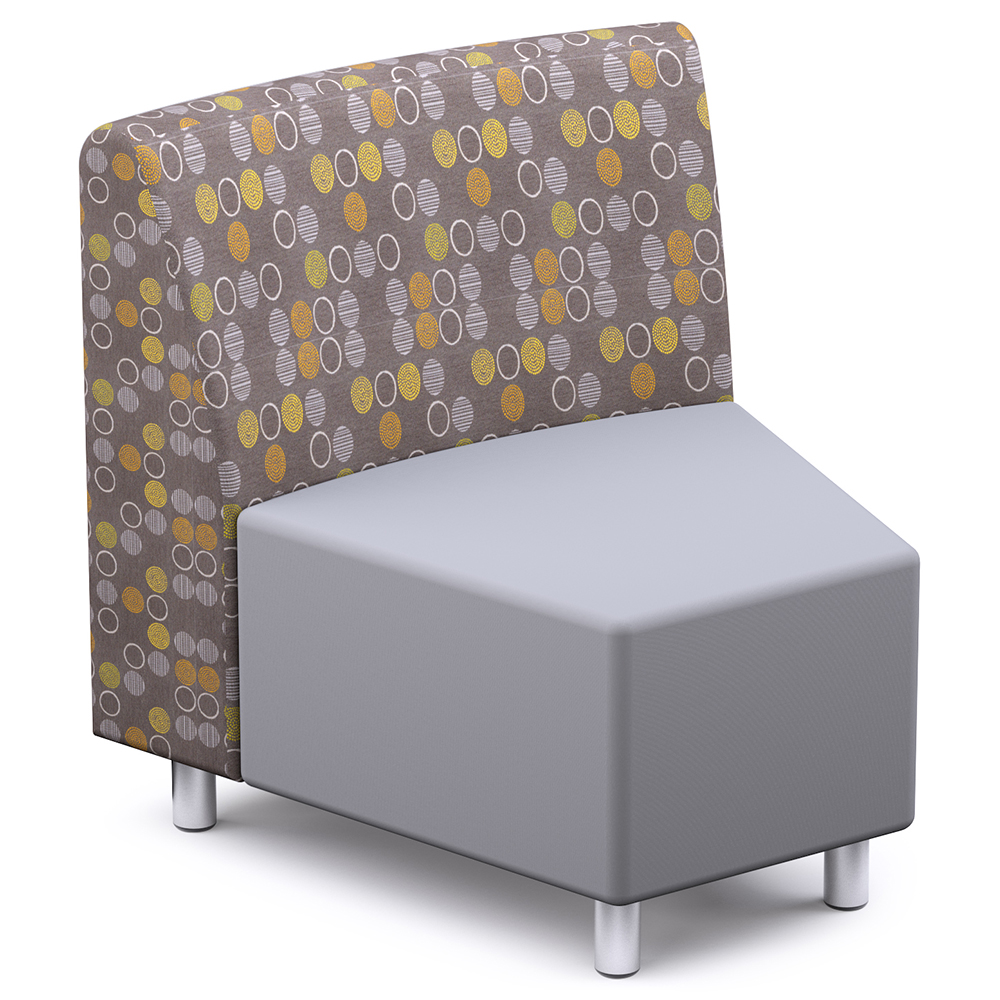 Russwood® Palette™ Soft Lounge Seating - 30° Wedge Chair, Fabric