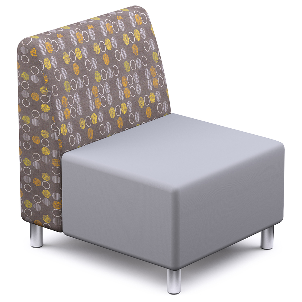 Russwood® Palette™ Soft Lounge Seating - Square Chair, Fabric