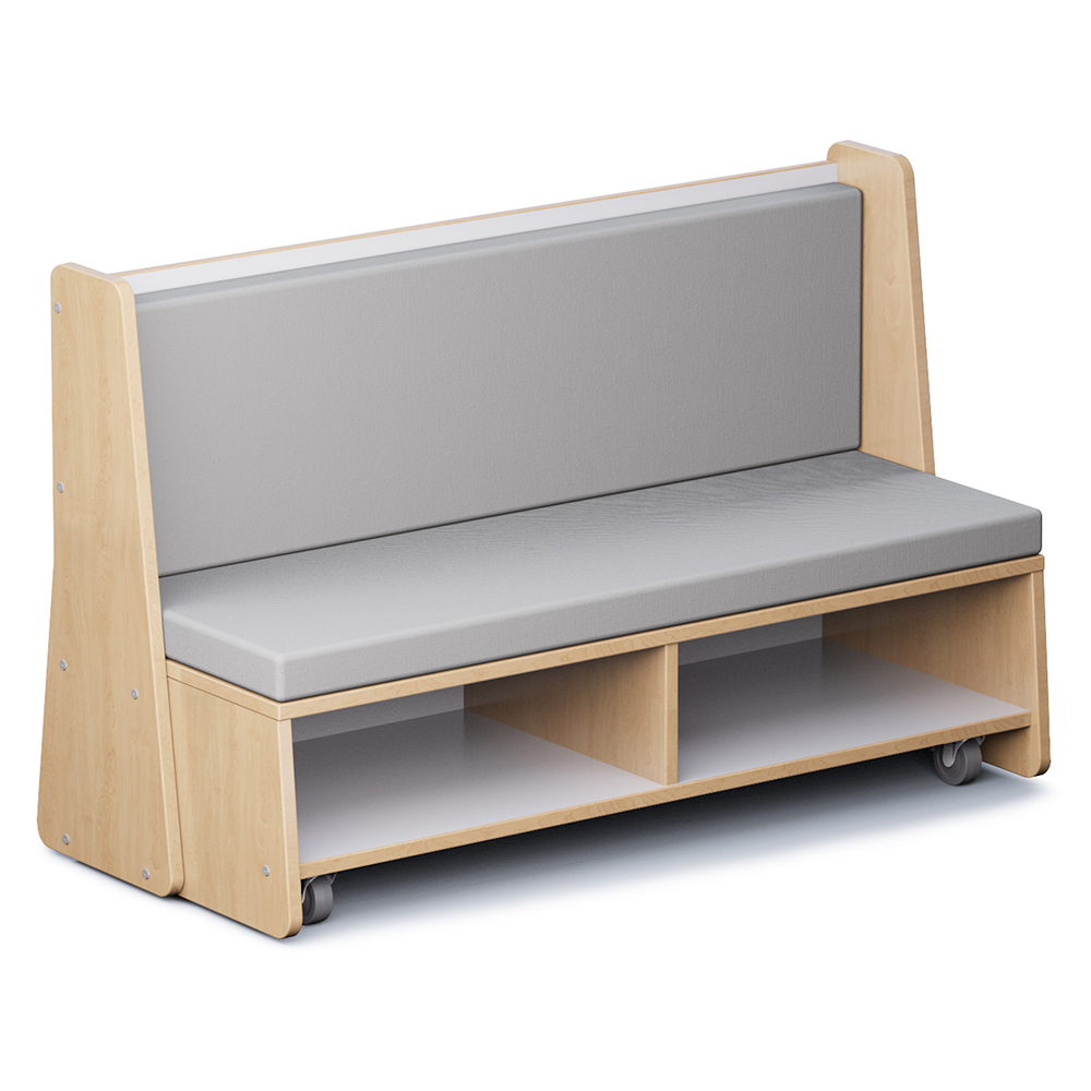 """Russwood® Hive Mobile Bench - 38""""H, Vinyl"""