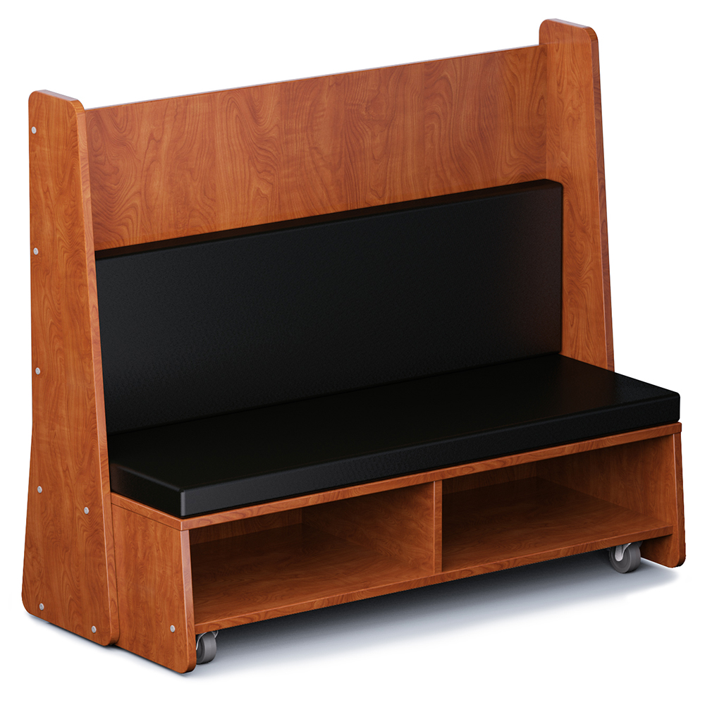 "Russwood® Hive Mobile Bench - 51""H, Vinyl"