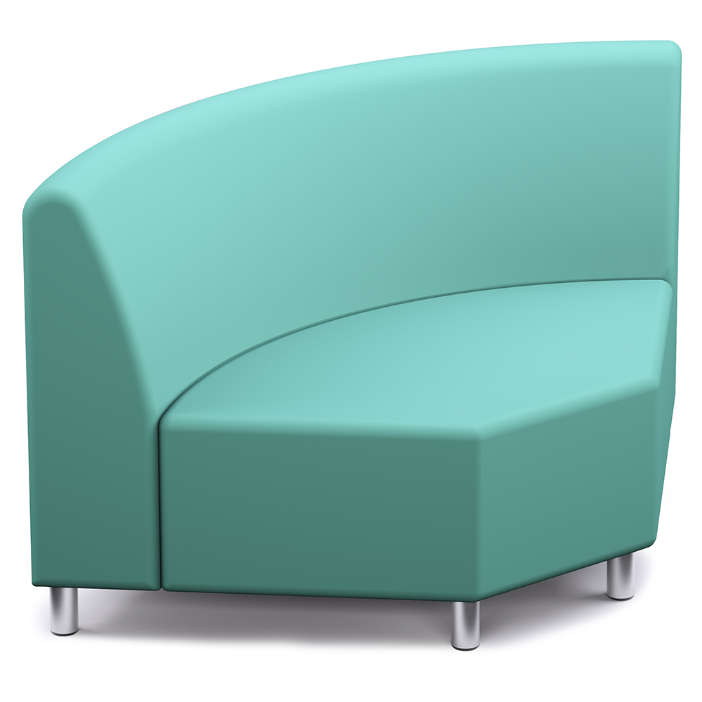 Russwood® Palette™ Soft Lounge Seating - 90° Corner Chair, Fabric
