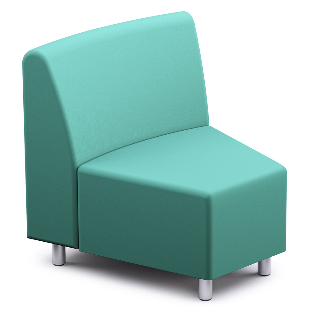 Russwood® Palette™ Soft Lounge Seating - 30° Wedge Chair, Vinyl