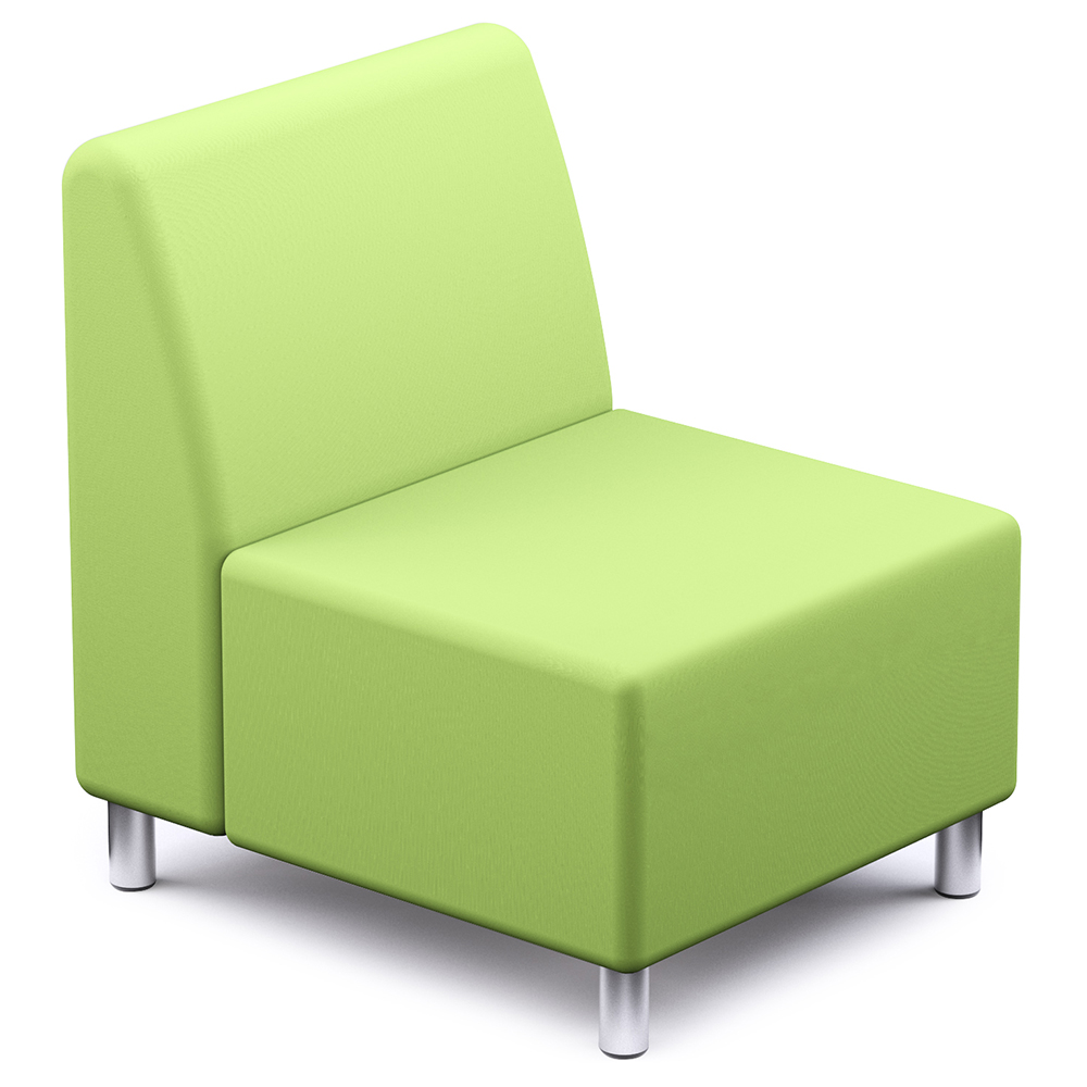 Russwood® Palette™ Soft Lounge Seating - Square Chair, Vinyl