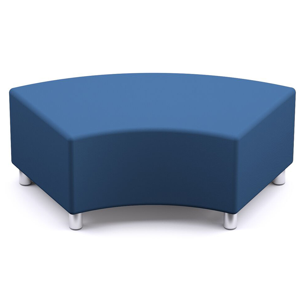 Russwood® Palette™ Soft Lounge Seating - 60° Curved Bench, Vinyl