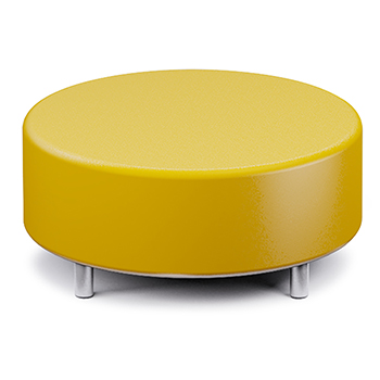 Russwood® Palette™ Soft Lounge Seating - Round Ottoman, Vinyl