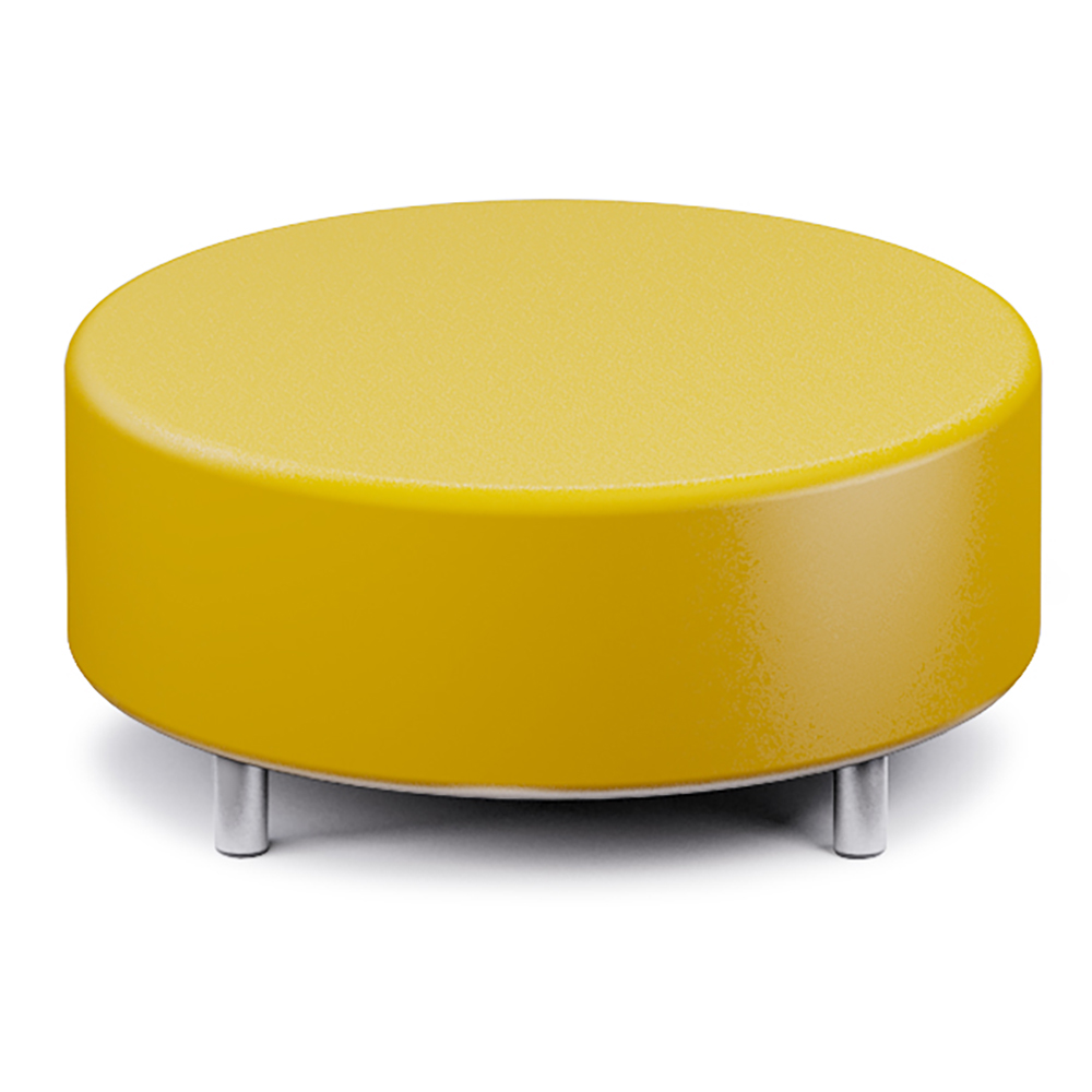 Russwood® Palette™ Soft Lounge Seating - Circle Ottoman, Vinyl