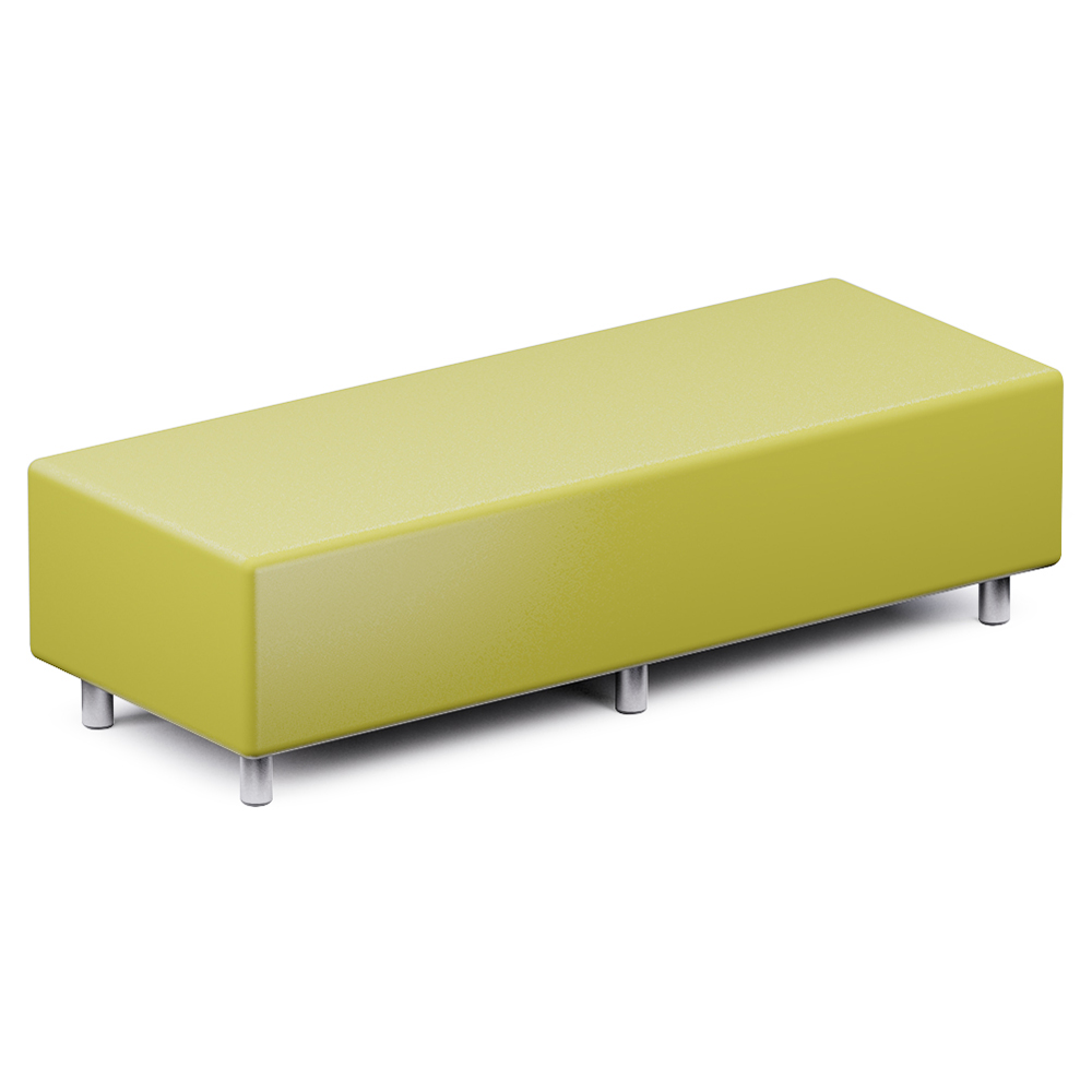 Russwood® Palette™ Soft Lounge Seating - Rectangle Ottoman, Vinyl