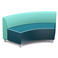 Russwood® Nook Bench with Backrest - 26H x 58W x 24D, Fabric