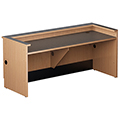 Nautilus™ Wood Circulation Desk - 32H x 72W x 30D Reference Desk with Patron Ledge