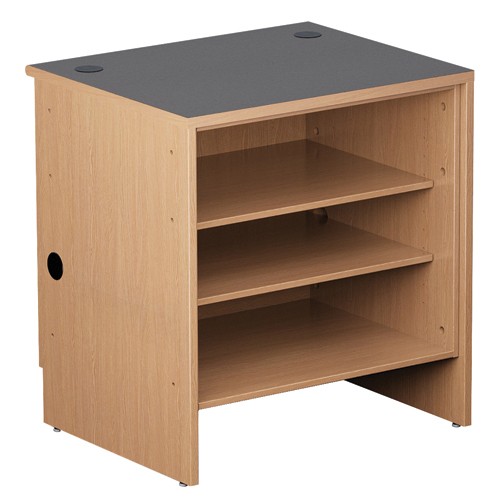 "Nautilus™ Wood Circulation Desk - 39""H x 36""W x 30""D Open Shelf"