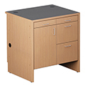 Nautilus™ Wood Circulation Desk - 39