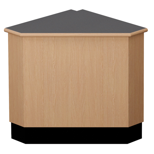 "Nautilus™ Wood Circulation Desk - 39""H x 33""W x 33""D 90° Closed Corner"
