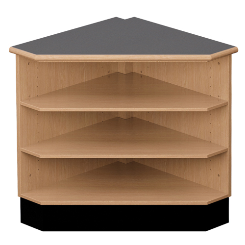 "Nautilus™ Circulation Desk - 39""H x 33""W x 33""D 90° Open Shelf Corner"