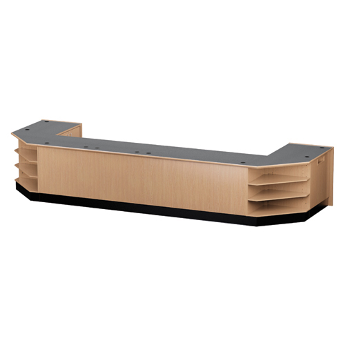 "Nautilus™ Wood Circulation Desk - 39""H Large Circulation Group"