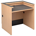Nautilus™ Wood Circulation Desk - 32H x 36W x 30D Reference Desk with Patron Ledge