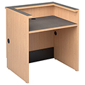 Nautilus™ Wood Circulation Desk - 39H x 36W x 30D Reference Desk with Patron Ledge