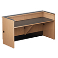 Nautilus™ Wood Circulation Desk - 39H x 48W x 30D Reference Desk with Patron Ledge