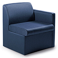 GLOBAL Braden™ Modular Lounge Seating - Single Seat with Left Arm