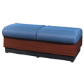 HPFI® Modular Lounge Seating - 2 Seat Lounge Bench, Fabric