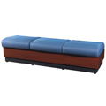 HPFI® Modular Lounge Seating -  3 Seat Lounge Bench, Fabric