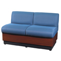HPFI® Modular Lounge Seating - Loveseat, Leather