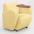 COMMUNITY Encore Tablet Arm Chair - Fabric Arms, Left Hand Folding Tablet