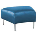 HPFI® Evette Modular Lounge Seating - 30° Bench, Faux Leather