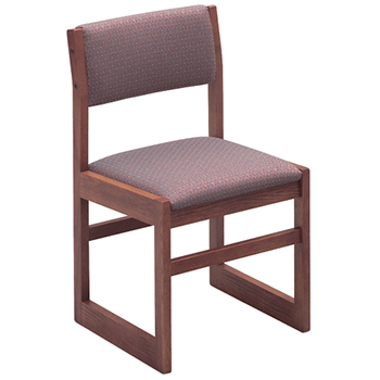 Russwood® Providence™ Wood and Fabric Library Chair