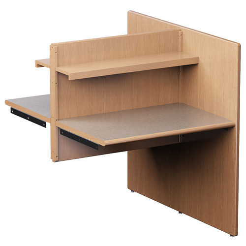 Russwood® Elite™ Study Carrel -  Double-Face Adder