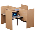 Russwood® Elite™ Study Carrel -  Pinwheel