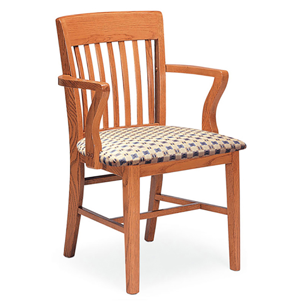 JSI Americana Library Chair - With Arms and Fabric Seat