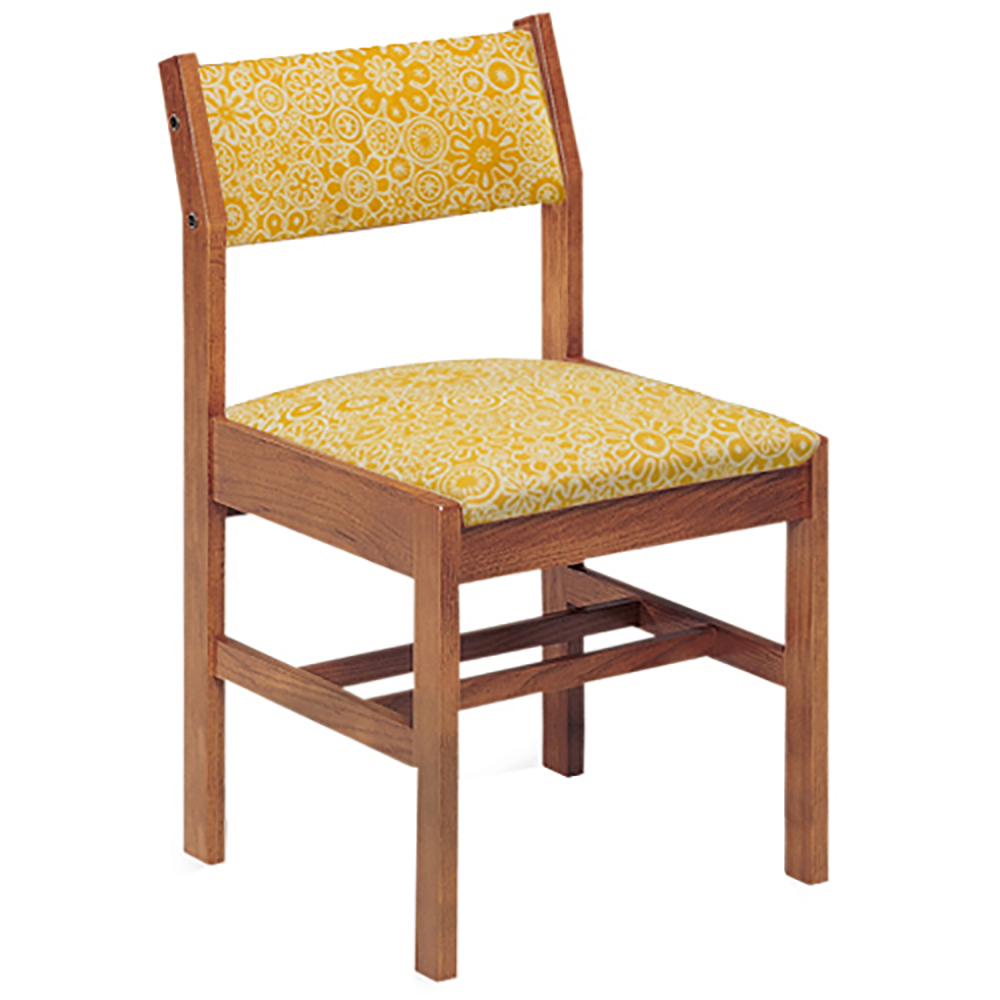 JSI Class Act Wood and Fabric Library Chair