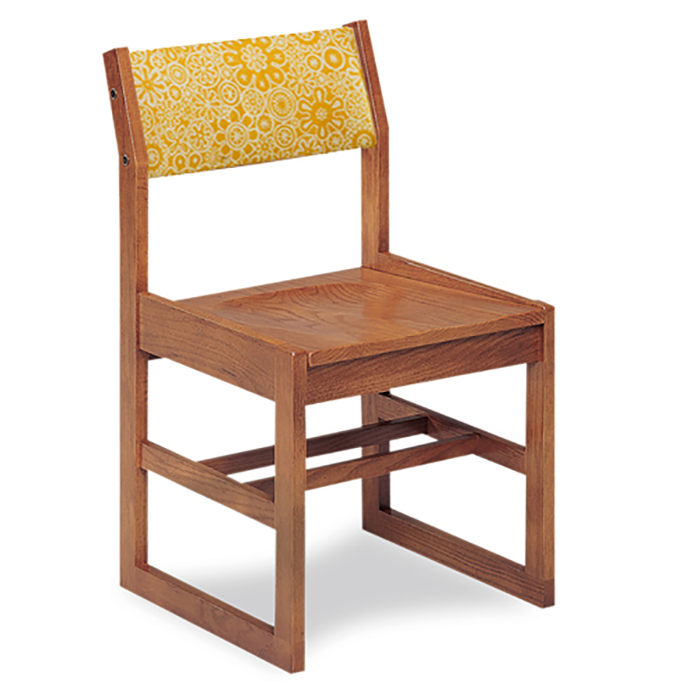 """JSI Class Act Library Chair - 14""""H Sled Base with Fabric Back"""