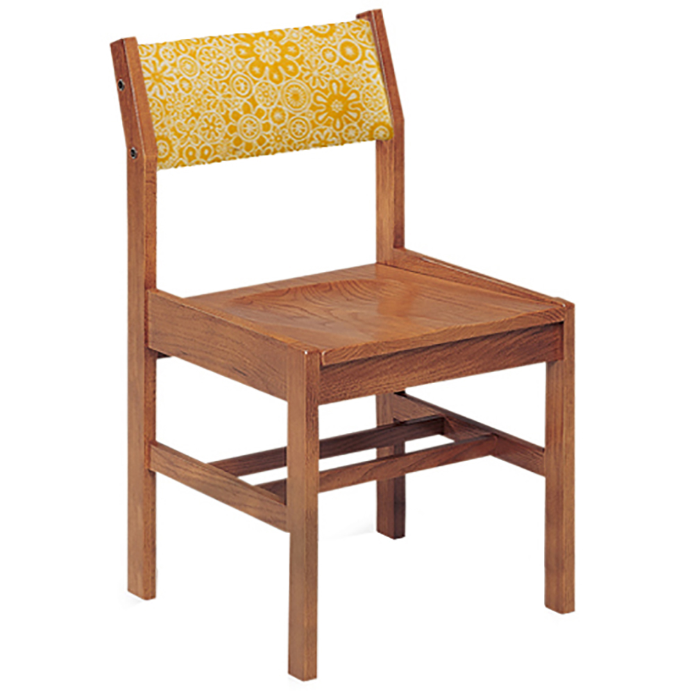 """JSI Class Act Library Chair - 16""""H Leg Base with Fabric Back"""