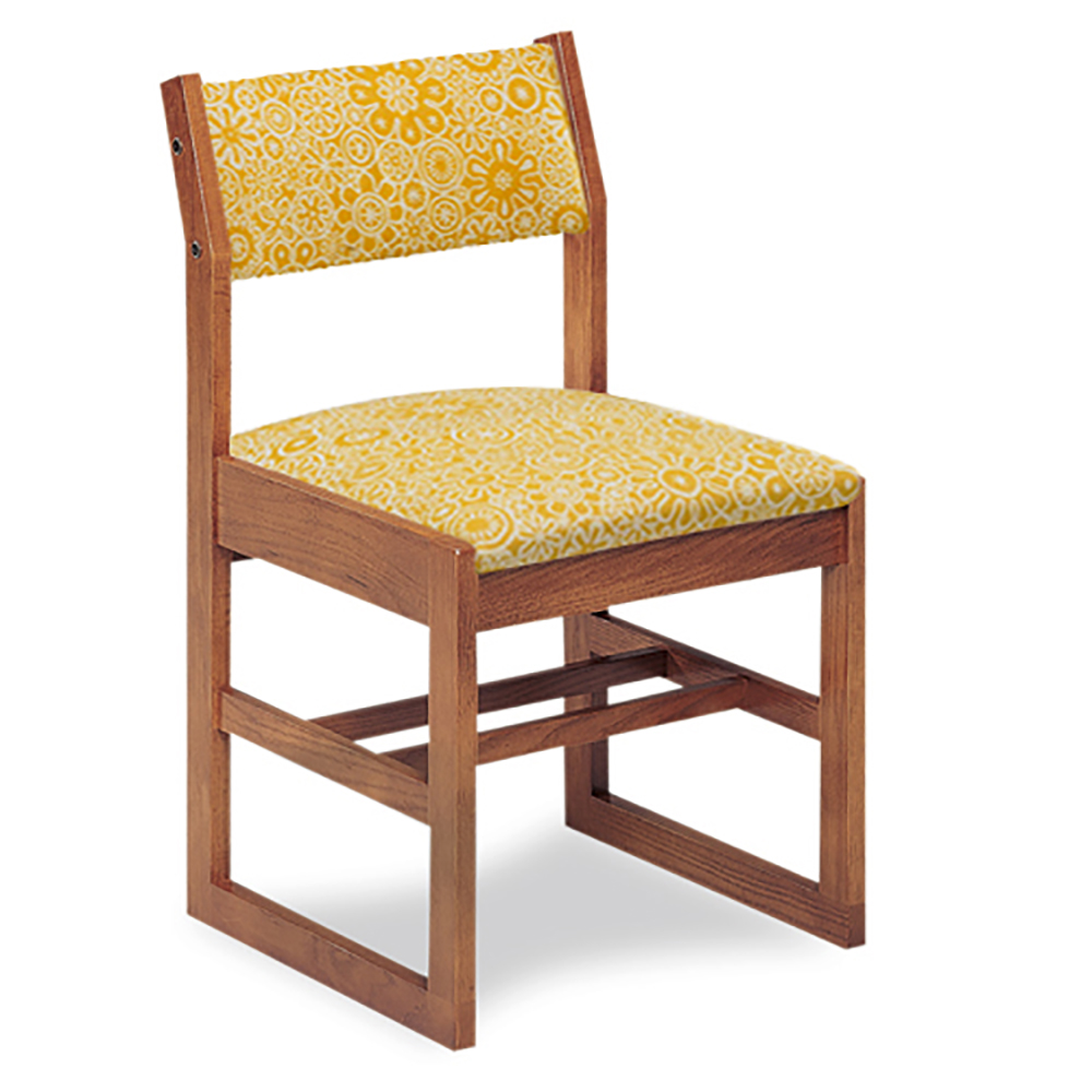 "JSI Class Act Library Chair - 16""H Sled Base with Fabric Seat & Back"