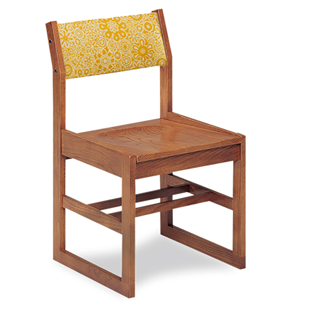 """JSI Class Act Library Chair - 18""""H Sled Base with Fabric Back"""