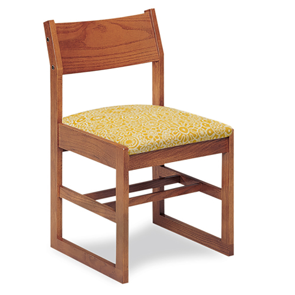 """JSI Class Act Library Chair - 18""""H Sled Base with Fabric Seat"""