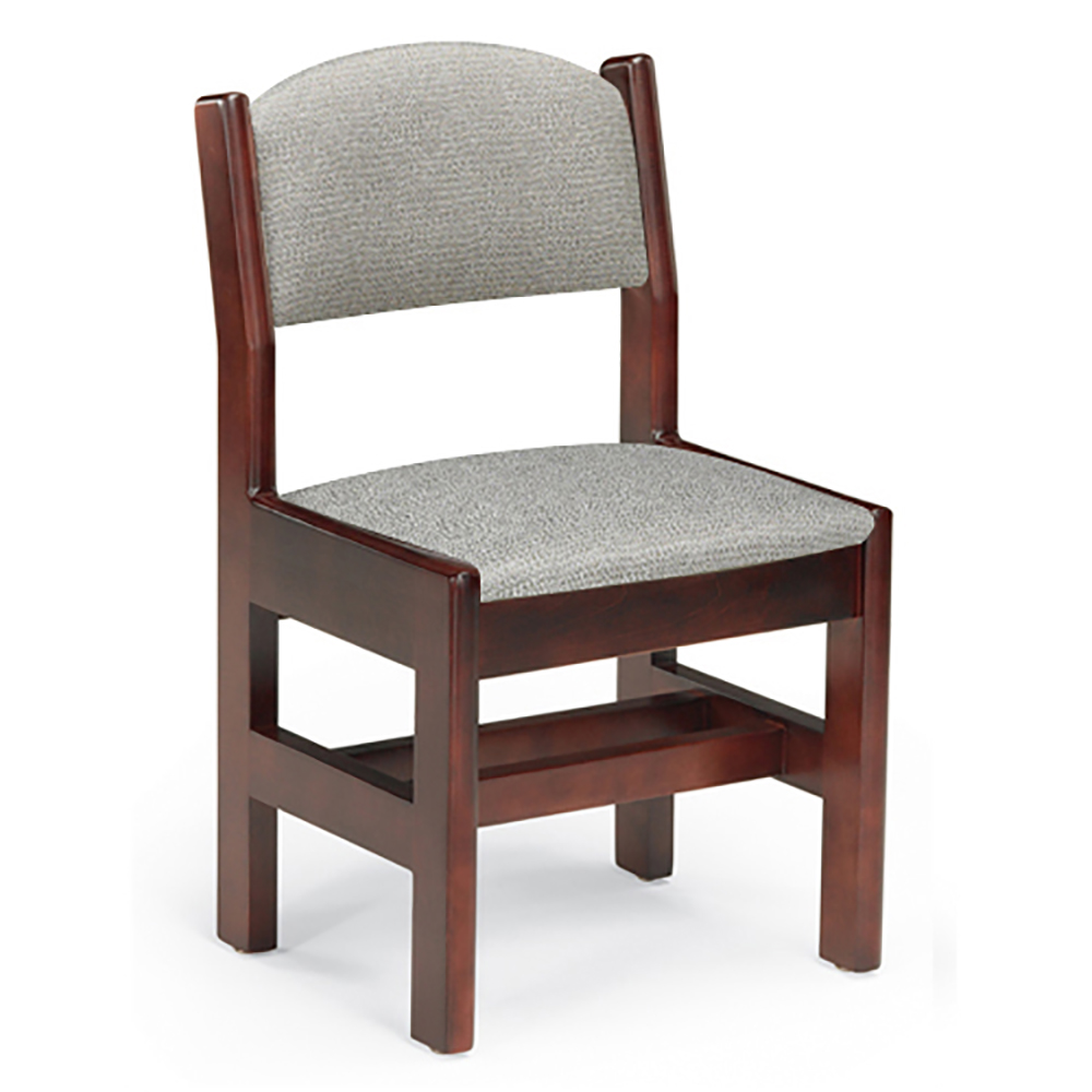 JSI Classmate Wood and Fabric Library Chair