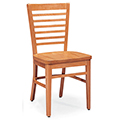 JSI Melrose Library Chair - All Wood Chair with Horizontal Slats