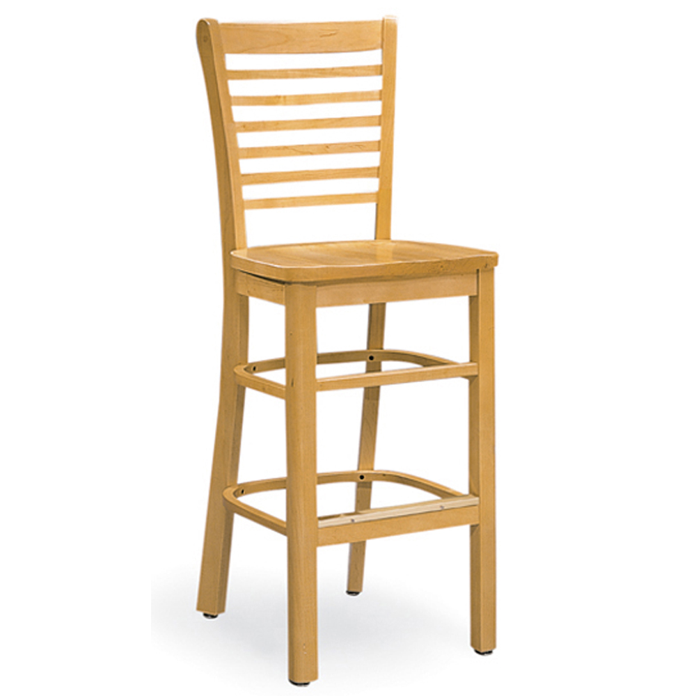 JSI Melrose Library Chair - All Wood Cafe Chair with Horizontal Slats