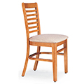 JSI Melrose Library Chair - All Wood Chair w/Fabric Seat and Horizontal Slats