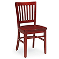 JSI Melrose Library Chair - All Wood Chair with Vertical Slats