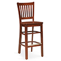 JSI Melrose Library Chair - All Wood Cafe Chair with Vertical Slats
