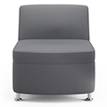 JSI Moto Lounge Seating - Fabric Inline Armless Club Chair