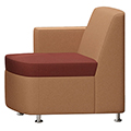 JSI Moto Lounge Seating - Fabric Inline Right Arm Club Chair