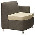 JSI Moto Lounge Seating - Fabric Inline Left Arm Club Chair