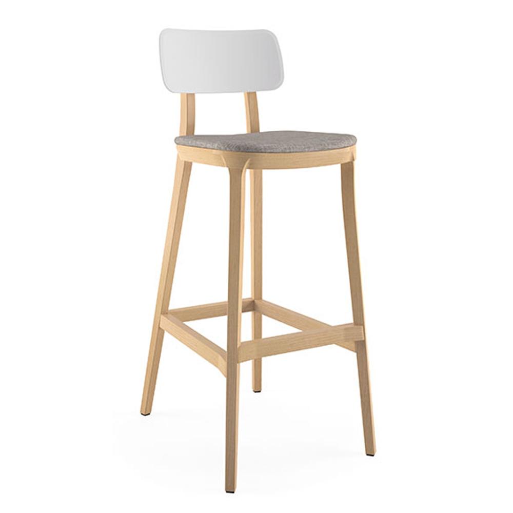 JSI Jude Stool - Fabric Seat and Plastic Back